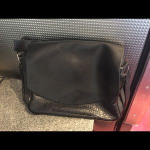 French Connection Black Leather Handbag Purse